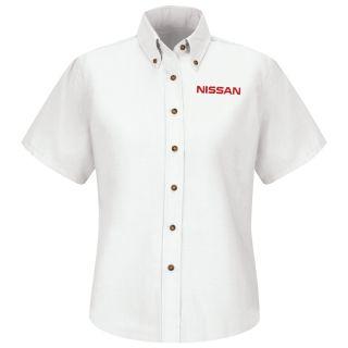 Nissan F SS Poplin Shirt - WH-Red Kap®