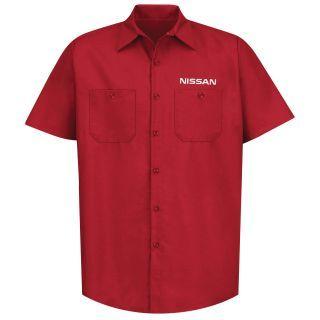 Nissan Mens Long Sleeve Industrial Work Shirt - 1642RD-