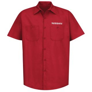Nissan M SS Poplin Workshirt - RD-Red Kap®