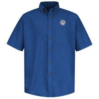Volkswagen Mens Short Sleeve Poplin Dress Shirt - 1739RB-