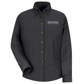 Acura Precision Womens Long Sleeve Meridian Performance Twill Shirt - 1868BK-