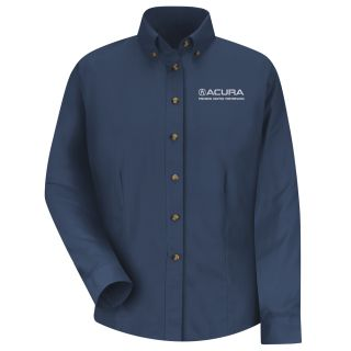 Acura Precision Womens Long Sleeve Meridian Performance Twill Shirt - 1869NV-