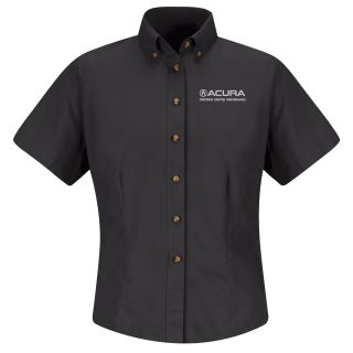 Acura Precision Womens Short Sleeve Meridian Performance Twill Shirt - 1871BK-