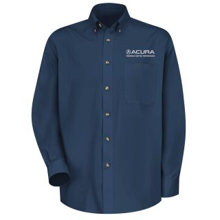 Red Kap® Branded Industrial Auto Acura Precision M LS Twill Shirt - NV-Red kap