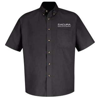 Acura Precision Mens Short Sleeve Meridian Performance Twill Shirt - 1877BK-