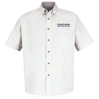 Acura Precision Mens Short Sleeve Meridian Performance Twill Shirt - 1879WH-