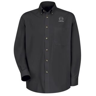 Mazda Mens Long Sleeve Meridian Performance Twill Shirt - 1900BK-Red Kap®