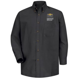 Chevrolet Mens Long Sleeve Poplin Dress Shirt - 1905BK-