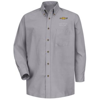 Chevrolet Mens Long Sleeve Poplin Dress Shirt - 1906SV-