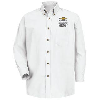Chevrolet Mens Long Sleeve Poplin Dress Shirt - 1907WH-