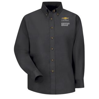 Chevrolet Womens Long Sleeve Poplin Dress Shirt - 1908BK-