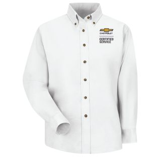 Chevrolet Womens Long Sleeve Poplin Dress Shirt - 1909WH-