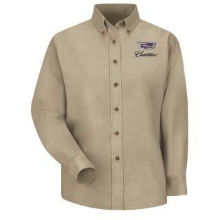 Cadillac Womens Long Sleeve Poplin Dress Shirt - 1914KH-