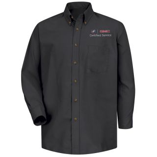 Buick GMC Mens Long Sleeve Poplin Dress Shirt - 1915BK-