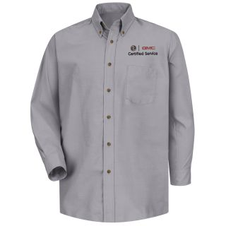 Buick GMC Mens Long Sleeve Poplin Dress Shirt - 1916SV-