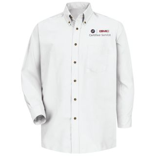 Buick GMC Mens Long Sleeve Poplin Dress Shirt - 1917WH-