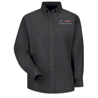 Buick GMC Womens Long Sleeve Poplin Dress Shirt - 1918BK-