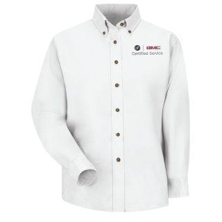 Buick GMC Womens Long Sleeve Poplin Dress Shirt - 1919WH-