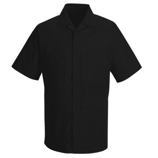 Red Kap® Housekeeping,Industrial Convertible Collar Shirt Jacket-Red kap