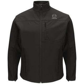 Mazda Mens Deluxe Soft Shell Jacket - 3107BK-Red Kap®