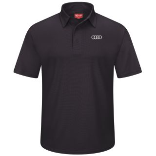 Audi Mens Short Sleeve Performance Knit® Flex Series Pro Polo - 5111BK-