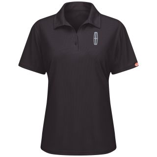 Lincoln Womens Short Sleeve Performance Knit Flex Series Pro Polo - 5224BK-