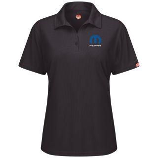 Red Kap® Branded Industrial Auto Mopar F SS Professional Polo - BK-Red kap