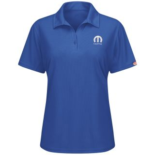 Mopar Womens Short Sleeve Performance Knit Flex Series Pro Polo - 5250RB-Red kap