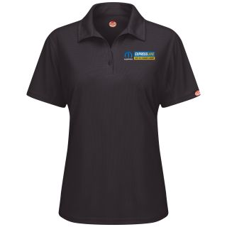 Mopar Express Lane Womens Short Sleeve Performance Knit Flex Series Pro Polo - 5278BK-