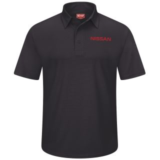 Nissan Mens Short Sleeve Performance Knit® Flex Series Pro Polo - 5310BK-