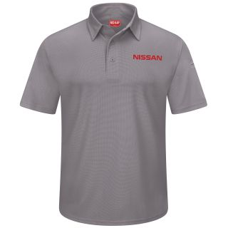Red Kap® Branded Industrial Auto Nissan F SS Professional Polo - GY-Red kap