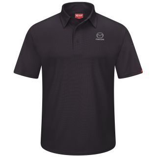 Mazda Mens Performance Knit® Flex Series Pro Polo - 5423BK-Red Kap®