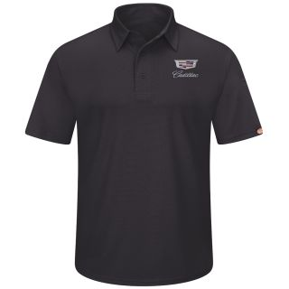 Cadillac Mens Performance Knit Flex Series Pro Polo - 5433BK-