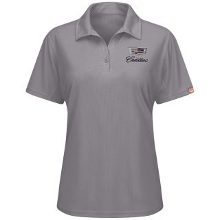 Cadillac Womens Performance Knit Flex Series Pro Polo - 5437GY-Red kap