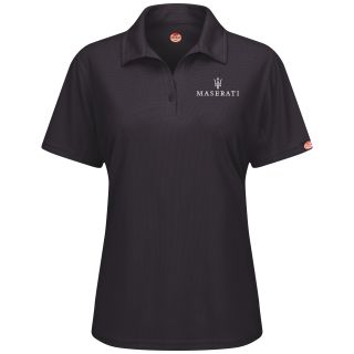 Red Kap® Branded Industrial Auto Maserati F SS Professional Polo - BK-Red kap