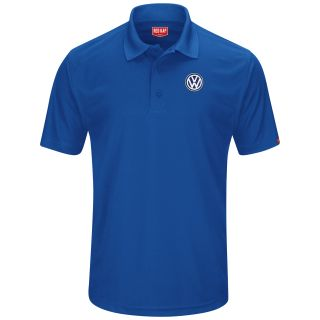 Volkswagen Mens Short Sleeve Performance Knit® Pocketless Core Polo - 5459RB-Red Kap®
