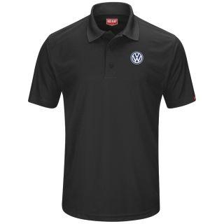 Volkswagen Mens Short Sleeve Performance Knit® Pocketless Core Polo - 5460BK-