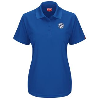 Volkswagen Womens Short Sleeve Performance Knit® Pocketless Core Polo - 5462RB-Red Kap®