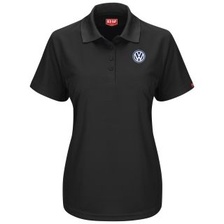 Volkswagen Womens Short Sleeve Performance Knit® Pocketless Core Polo - 5463BK-Red Kap®