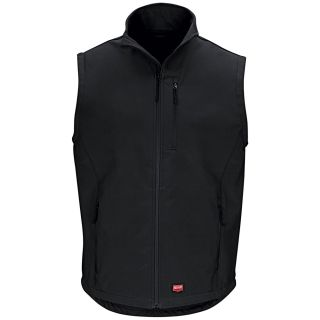 Red Kap® Branded Industrial Auto Soft Shell Vest-Red kap