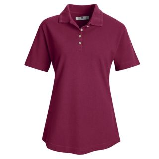 Womens Basic Pique Polo
