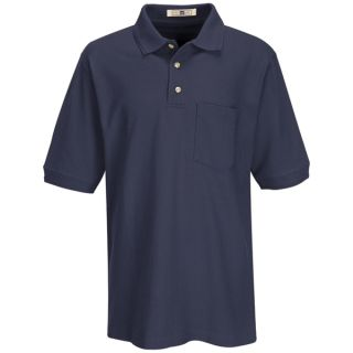 7702 Mens Basic Pique Polo-Red kap