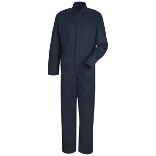 Button-front Cotton Coverall-Red kap