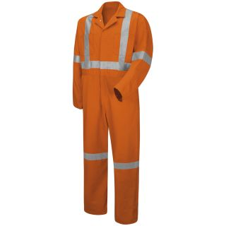 Hi-Visibility Button-Front Coverall with CSA Compliant Reflective Trim-