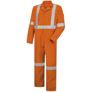 Hi-Visibility Zip-Front Coverall with CSA Compliant Reflective Trim-Red Kap®