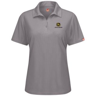 JC1PGY John Deere F Performance Polo - GY-Red Kap®