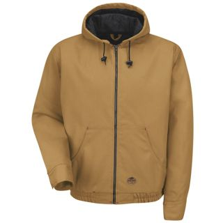 Blended Duck Zip-Front Hooded Jacket-