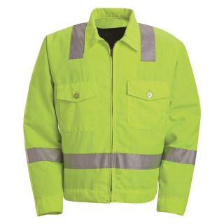 Hi-Visibility Ike Jacket - Class 2 Level 2-Red Kap®