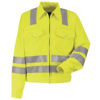 Hi-Visibility Ike Jacket - Class 3 Level 2-Red Kap®