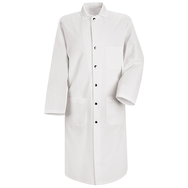Snap-Front Spun Polyester Butcher Coat-